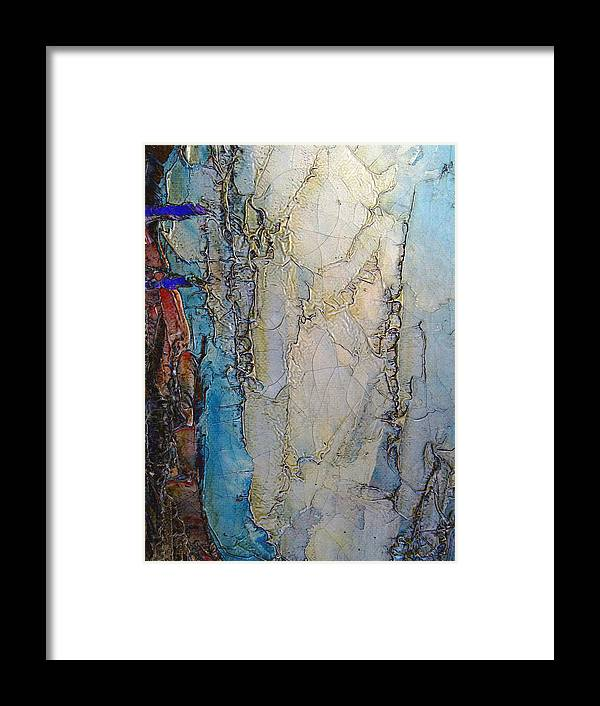 Painting Framed Print featuring the digital art Cracks In The Surface by Michele Caporaso