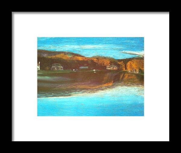 Lake Framed Print featuring the painting Crandon Lakes In November by Samuel McMullen
