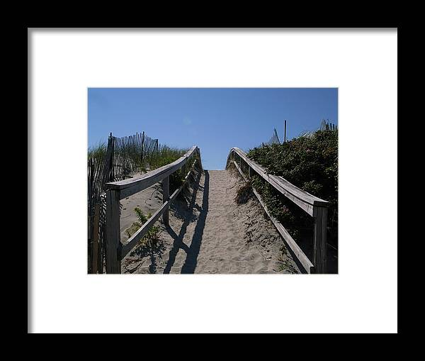 Crane Beach Framed Print featuring the pyrography Crane Beach by Renata Zau