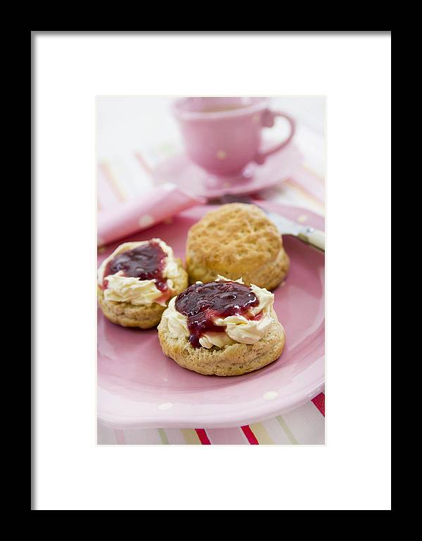 Snack Framed Print featuring the photograph Cream Tea by Erika Craddock
