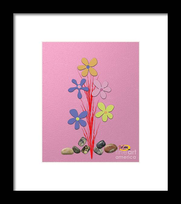 Digital Painting Framed Print featuring the digital art Creative Flower by Rod Seeley