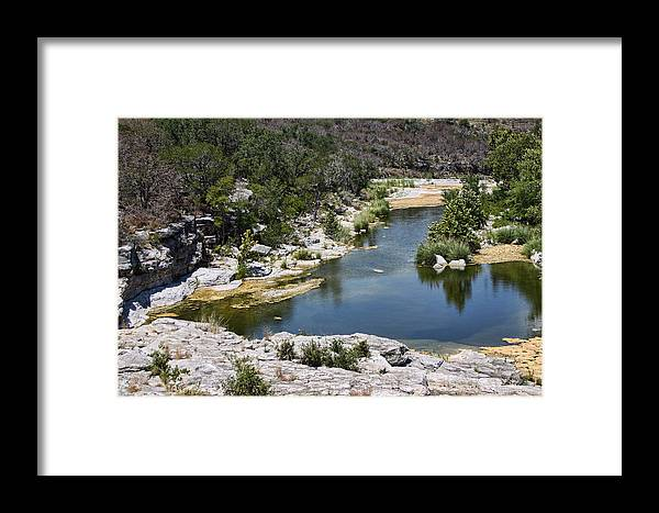 Landscape Framed Print featuring the photograph Creek Water by Linda Phelps