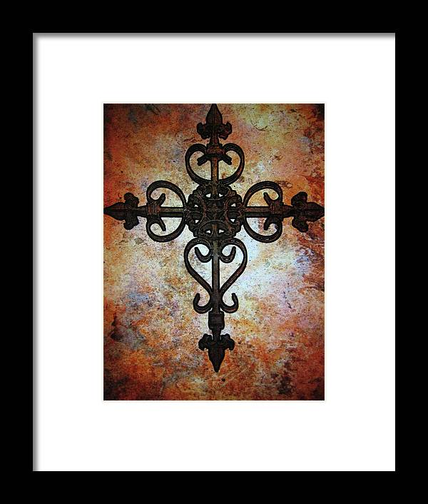 Cross Framed Print featuring the photograph Cross by Cindy Edwards