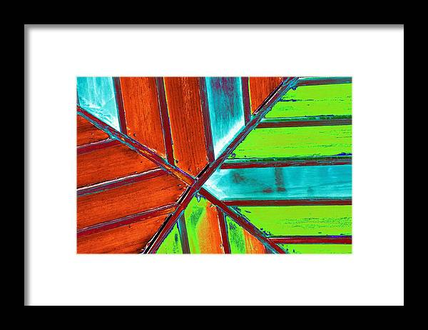 Ceiling Framed Print featuring the photograph Crossed Beams by Richard Henne