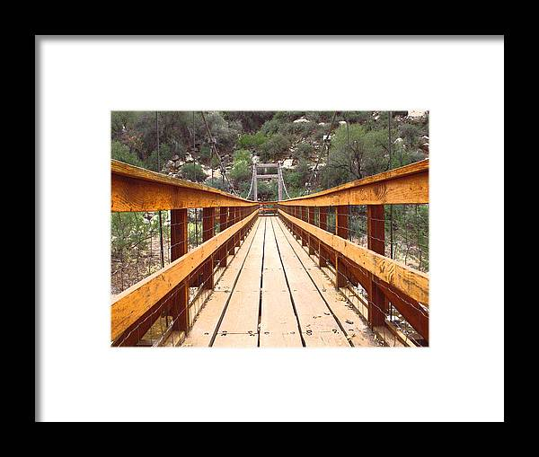 Bridge Framed Print featuring the photograph Crossing Over by Adrienne Lahr