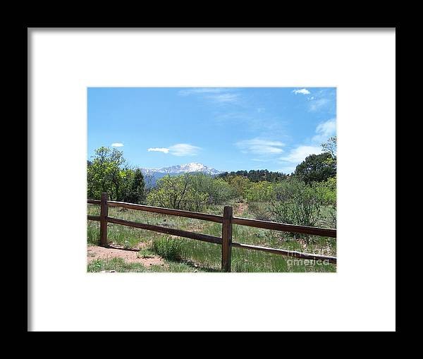 Colorado Framed Print featuring the photograph Crossing the Fence by Jack Norton