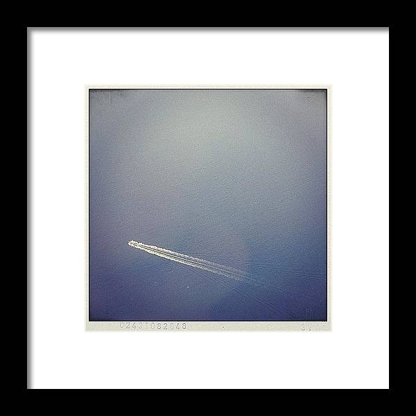 Cruiser Framed Print featuring the photograph Crossing The Seven Seas #ig #igers by A Rey