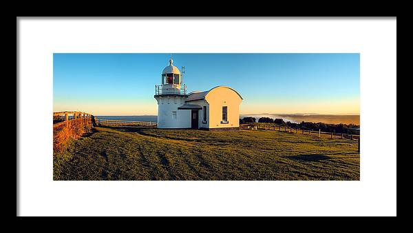 Sunset Framed Print featuring the photograph Crowdy Head Lighthouse by Karl Bayer