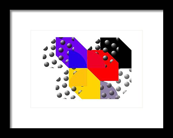 Halftone Framed Print featuring the painting Cruella De Stijl by Charles Stuart