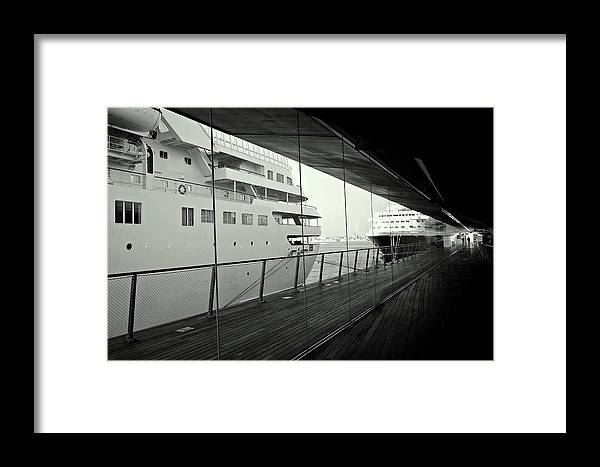 Ship Framed Print featuring the photograph Cruise Ships by Dean Harte