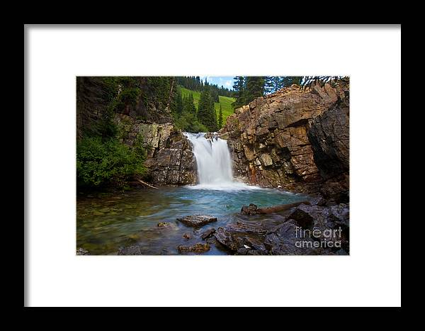 Altitude Framed Print featuring the photograph Crystal River Waterfall by Crystal Garner