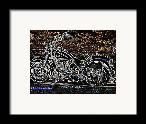 Cu Boulder Framed Print featuring the photograph Cu Boulder Colorado Nights by Eric Dee