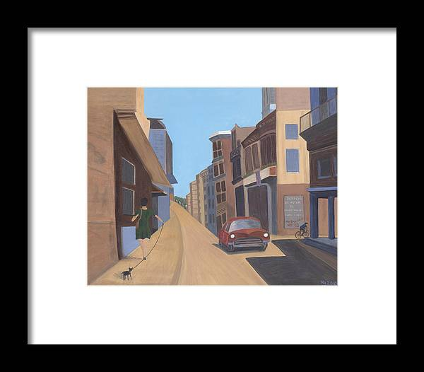 Street Scene Framed Print featuring the painting Cuban Street 1 by Norma Treasure Garwood
