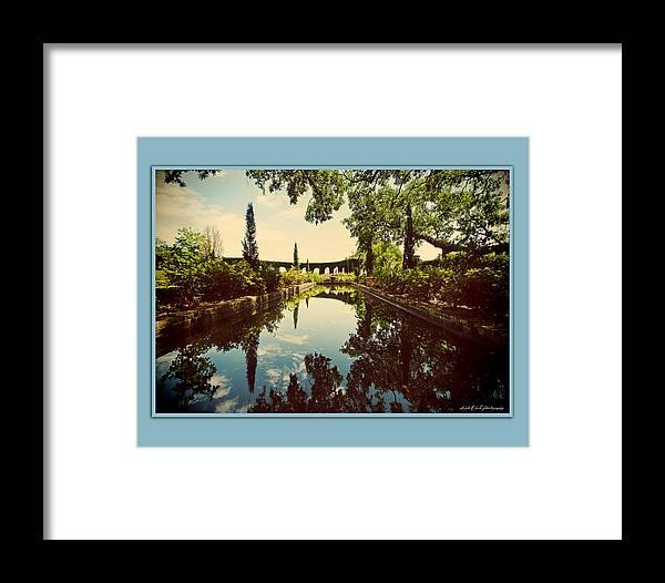 Peaceful Framed Print featuring the photograph Cummer Pond Zen by Linda Olsen