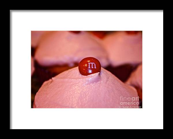 Food Framed Print featuring the photograph Cupcake Candy Connection by Susan Herber