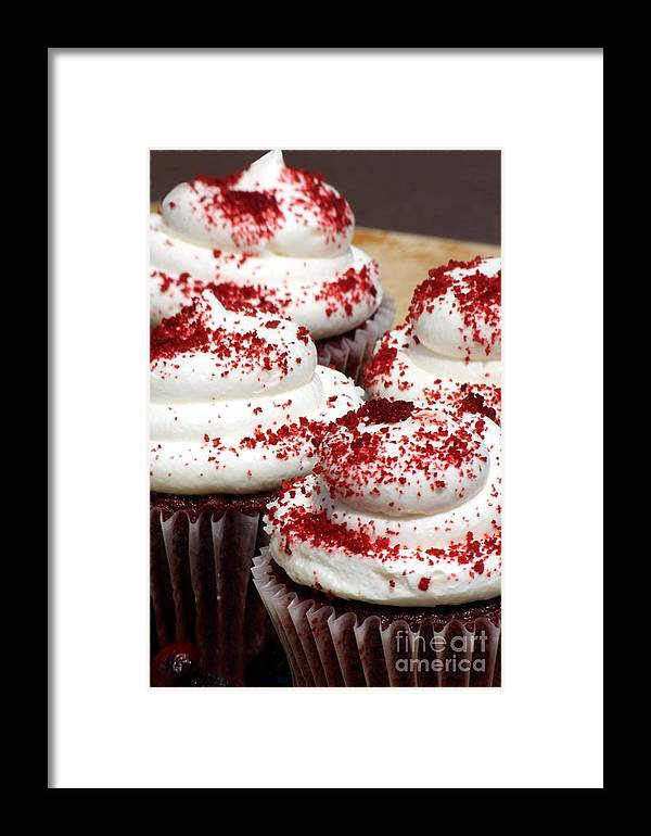 Cupcackes Framed Print featuring the photograph Cupcakes by Sophie Vigneault
