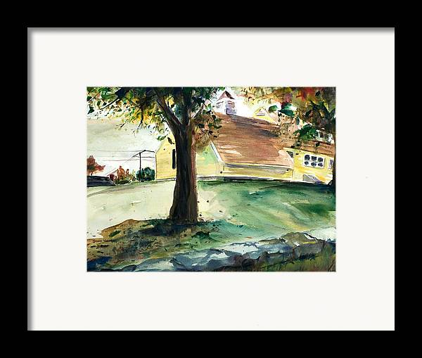 Yard Framed Print featuring the painting Cupola by Scott Nelson
