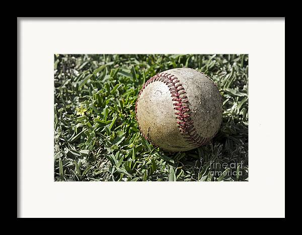 Baseball Framed Print featuring the photograph Cure For Spring Fever by Gwyn Newcombe