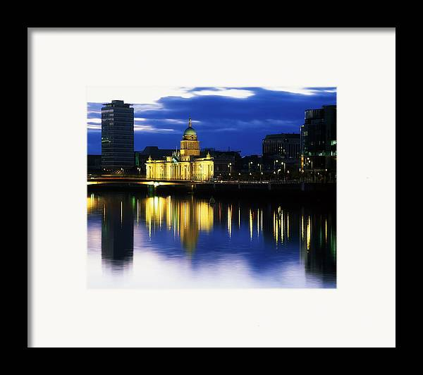 Cloud Framed Print featuring the photograph Customs House And Liberty Hall, River by The Irish Image Collection