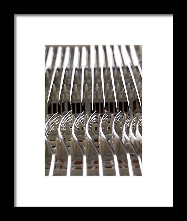 Utensil Framed Print featuring the photograph Cutlery by Tek Image