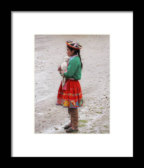 Peru Framed Print featuring the photograph Cuzco Girl by Karin De oliveira