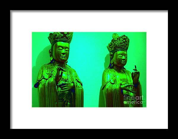 Buddha Framed Print featuring the photograph Cy-buddhas by Melanie D Cervantes