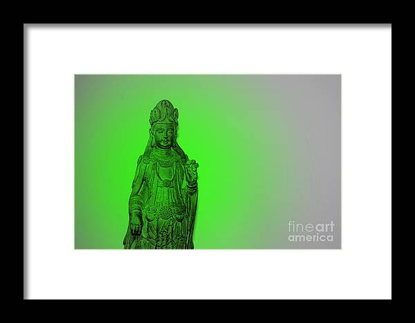 Buddha Framed Print featuring the photograph Cy-kuan Yin by Melanie D Cervantes