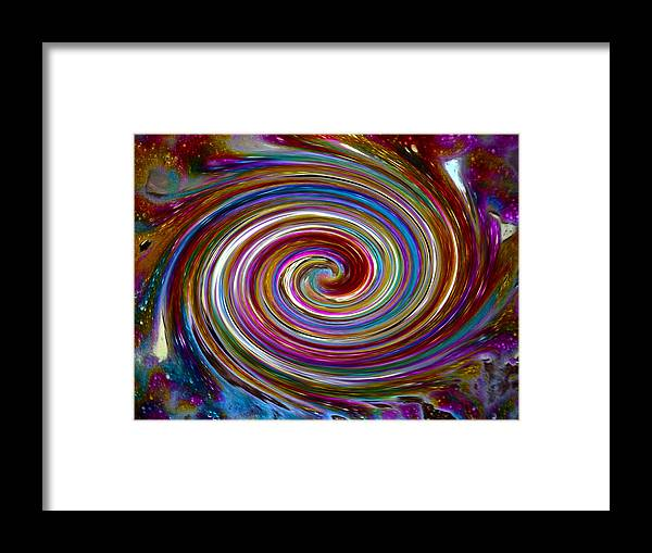 Bright Framed Print featuring the digital art Cyclone Of Color by Tanya Jacobson-Smith