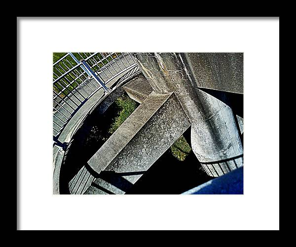 Rectangular Framed Print featuring the photograph Cylinder N Rectangles by Kevin D Davis