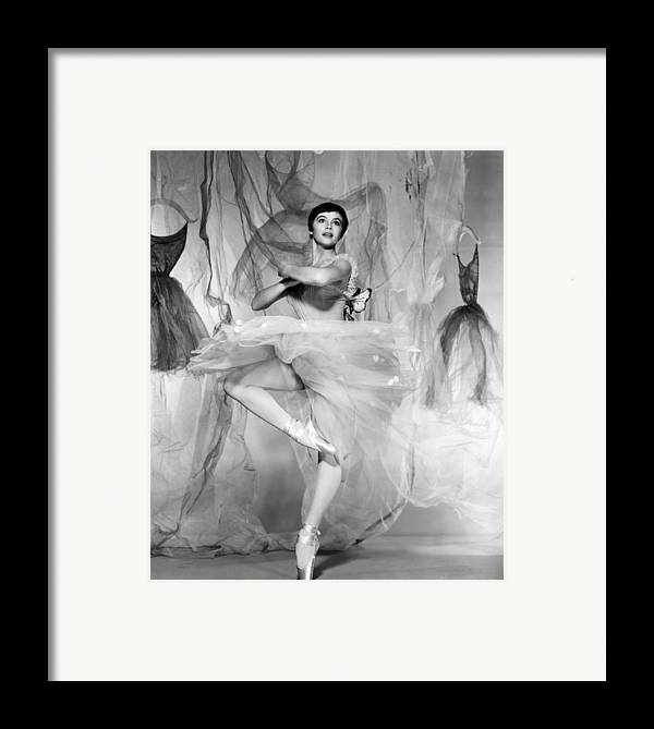1950s Portraits Framed Print featuring the photograph Daddy Long Legs, Leslie Caron, 1955 by Everett