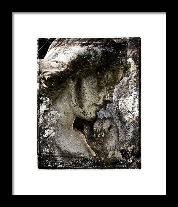 Fine Art Photography Framed Print featuring the photograph Daguerrotype Angel by Sonja Quintero