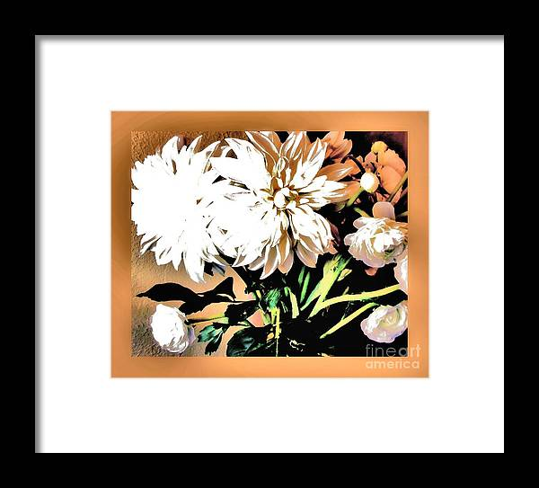 Photo Framed Print featuring the photograph Dahlias Abstract by Marsha Heiken