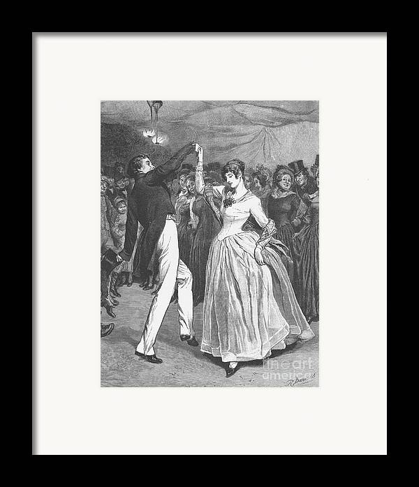 1886 Framed Print featuring the photograph Dance, 19th Century by Granger