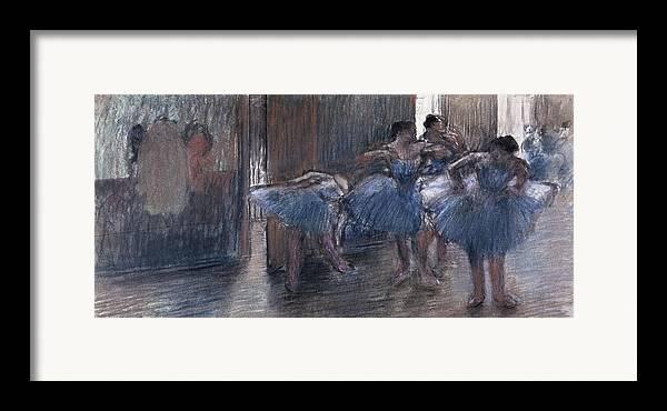 Dancers (pastel) By Edgar Degas (1834-1917) Framed Print featuring the painting Dancers by Edgar Degas