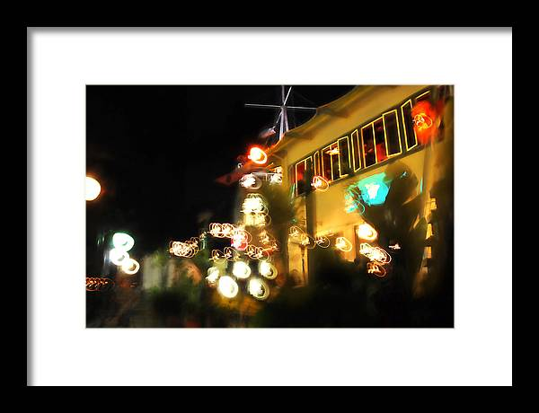 Lights Framed Print featuring the photograph Dancing Lights by Yulia