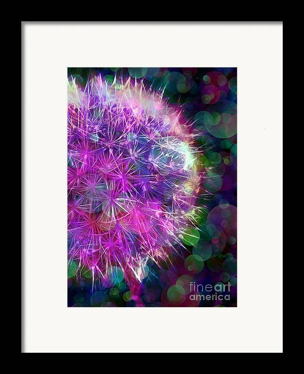 Dandelion Framed Print featuring the photograph Dandelion Party by Judi Bagwell
