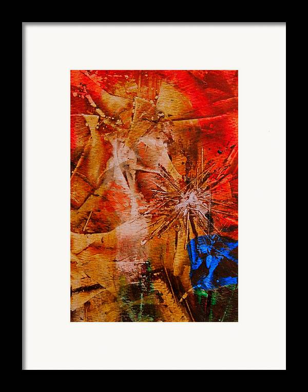 Dandelion Framed Print featuring the painting Dandelion by Tammy Cantrell