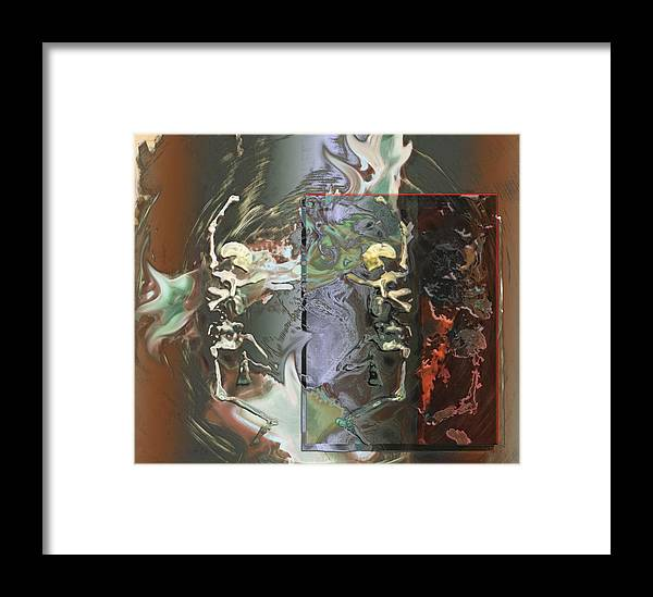 Surreal Framed Print featuring the digital art Danse Macabre by Janet Kearns