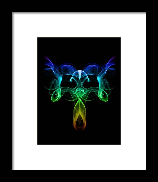 Smoke Framed Print featuring the photograph Dark Angel by Dagmar Woltereck