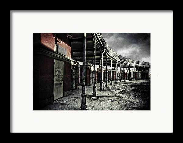 Entrance Framed Print featuring the photograph Dark Entrance by Pixel Perfect by Michael Moore