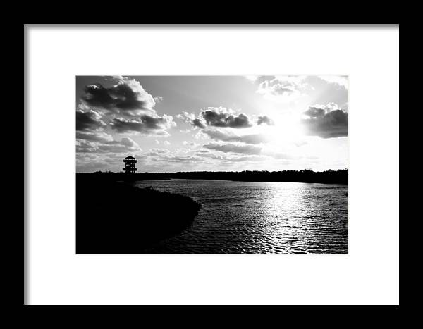 Robinson Framed Print featuring the photograph Darkness Fell by Nicholas Evans
