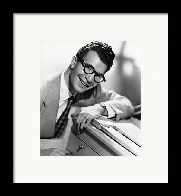 1950s Portraits Framed Print featuring the photograph Dave Brubeck, 1950s by Everett
