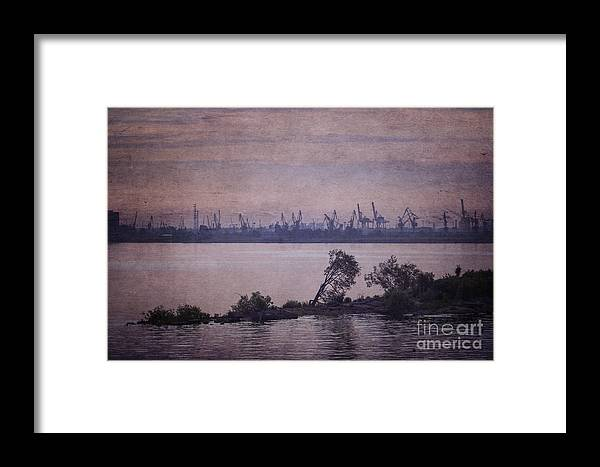 Clare Bambers Framed Print featuring the photograph Dawn On The River Neva In Russia by Clare Bambers