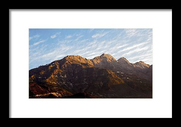 Interesting Framed Print featuring the photograph Dawn Vaishno Devi Himalayas by Kantilal Patel
