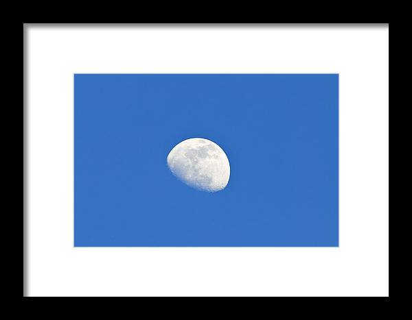 Astronomical Framed Print featuring the photograph Day Time Moon by Photostock-israel