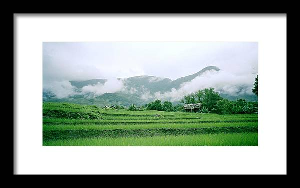 Color Framed Print featuring the photograph Daybreak In Sapa by Shaun Higson