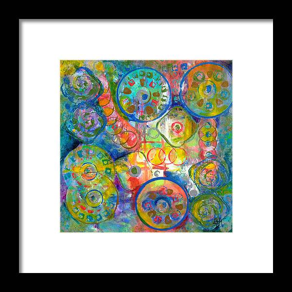 Colorful Framed Print featuring the painting Daydreams by Gretchen Ten Eyck Hunt