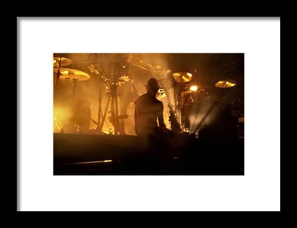 Andy Laplegua Combichrist Music Industrial Aggro-tech Framed Print featuring the photograph Dead Mic by Kay McLaren
