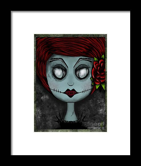 Lady Framed Print featuring the digital art Death Becomes Her by J Kinion