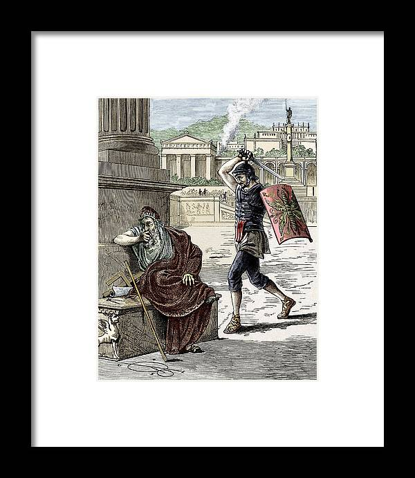 Archimedes Framed Print featuring the photograph Death Of Archimedes In Sack Of Syracuse by Sheila Terry